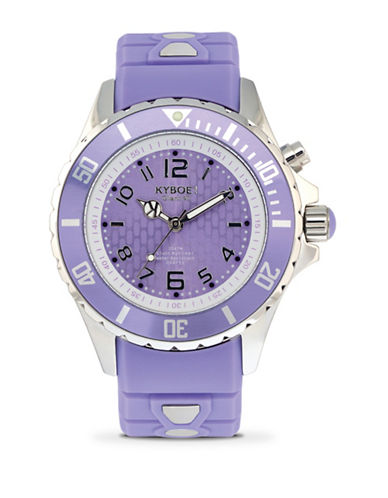Kyboe! Power Treat Silvertone Analog Watch-LAVENDER-One Size