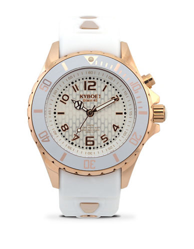 Kyboe! Power Rose Goldtone Ghost Analog Watch-WHITE/ROSE GOLD-One Size