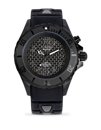 Kyboe! Power Black Shadow Analog Watch-BLACK-One Size