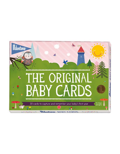 Milestone Cards 30-Piece Baby Card Set-GREY-One Size