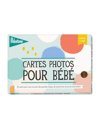 Milestone Cards Baby 30-Photo Cards - French-MULTI-One Size