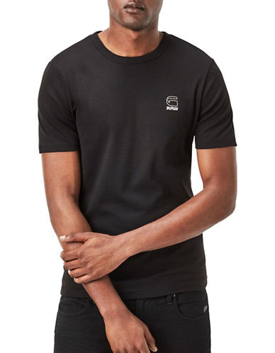 G-Star Raw Cool Rib Cotton T-Shirt-BLACK-Medium