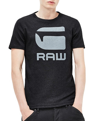 G-Star Raw Drillon Crew Neck T-Shirt-BLACK-Small