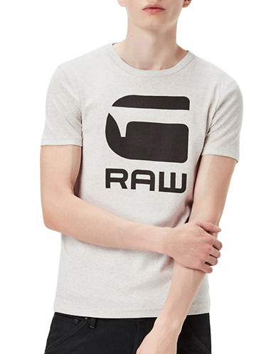 G-Star Raw Drillon Crew Neck T-Shirt-WHITE-Medium 89044374_WHITE_Medium