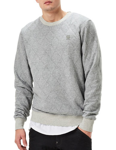 G-Star Raw Jacquard Sweatshirt-GREY-Small 88930867_GREY_Small