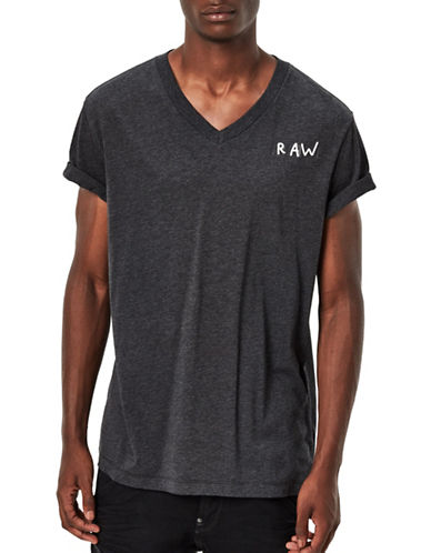 G-Star Raw Borick V-Neck T-Shirt-BLACK-X-Large 88930918_BLACK_X-Large