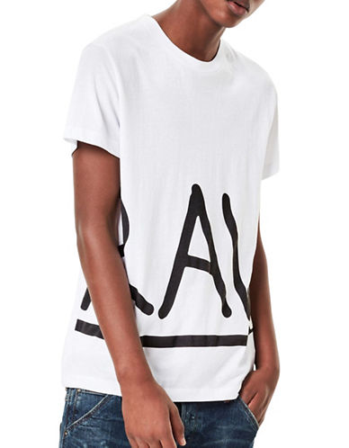 G-Star Raw Manes Printed Tee-WHITE-Large 89123396_WHITE_Large