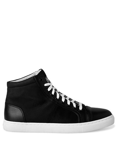 G-Star Raw Toublo Mid-Top Mixed Media Sneakers-BLACK-EU 41/US 8