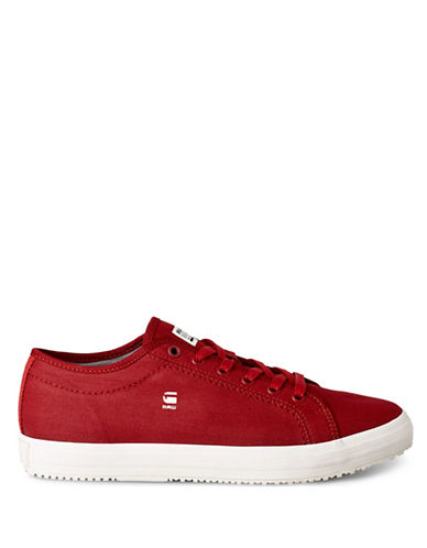 G-Star Raw Kendo Denim Low-Top Sneakers-RED-EU 45/US 12