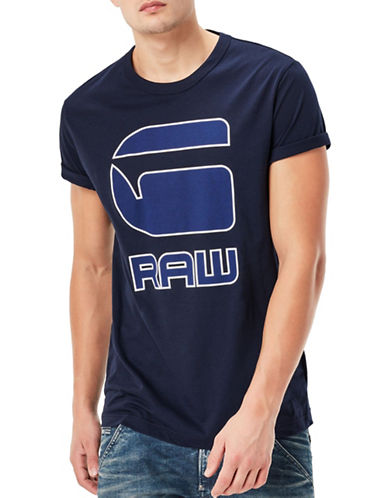 G-Star Raw Cadulor Jersey T-Shirt-BLUE-Medium 89044413_BLUE_Medium