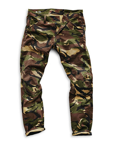 G-Star Raw Elwood X25 Camouflage Print Jeans-GREEN-32X32
