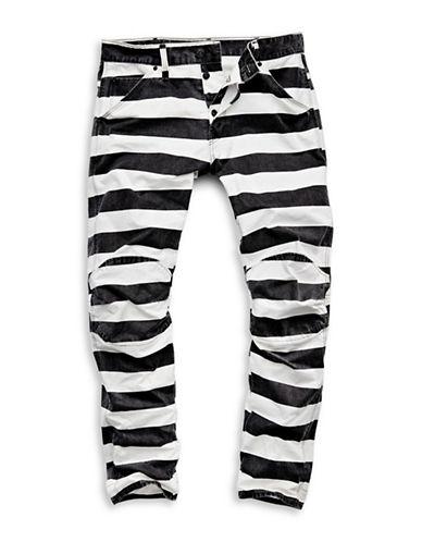 G-Star Raw Elwood X25 Striped Five-Pocket Jeans-WHITE-32X32