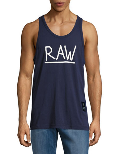 G-Star Raw Graphic Tank Top-BLUE-Small 89148370_BLUE_Small