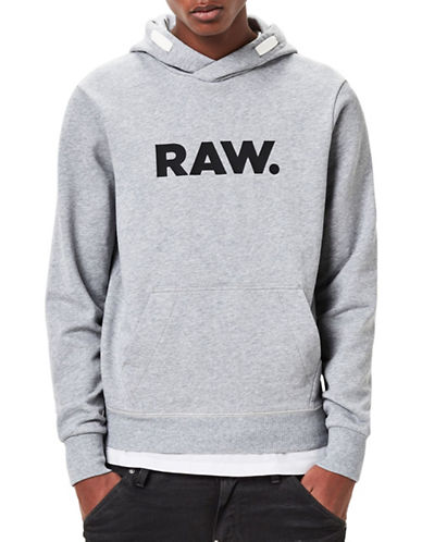 G-Star Raw Mattow Printed Hoodie-GREY-X-Small 89148372_GREY_X-Small