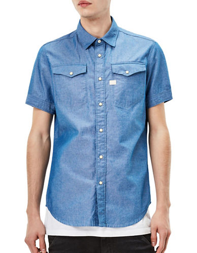 G-Star Raw Tacoma Deconstructed Shirt-BLUE-Large