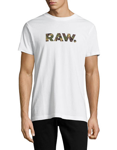 G-Star Raw Camo Logo T-Shirt-WHITE-Medium 89148401_WHITE_Medium