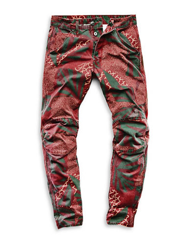 G-Star Raw Elwood X25 Tapered Five-Pocket Jeans-RED-30X32
