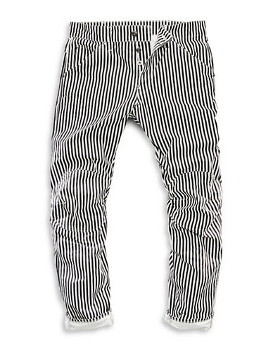 G-Star Raw Striped Five-Pocket Jeans-WHITE-33X32