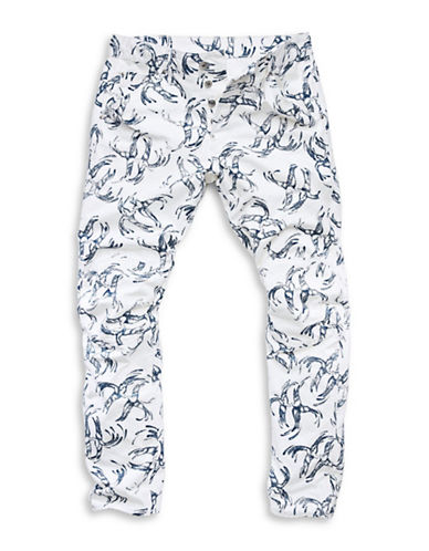 G-Star Raw Elwood X25 Bird Print Jeans-WHITE-31X32