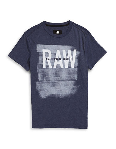 G-Star Raw Xaix Logo T-Shirt-BLUE-Large 88467703_BLUE_Large
