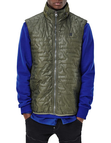G-Star Raw Avier Myrow Sleeveless Vest Jacket-GREEN-X-Small 88467632_GREEN_X-Small