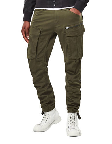 G-Star Raw Rovic Zip 3D Tapered Cargo Pants-GREEN-30X32
