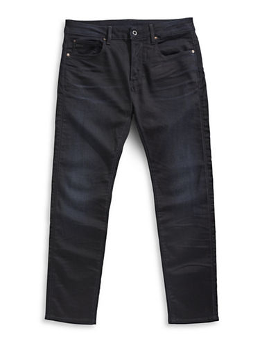 G-Star Raw 3301 Slander Super Stretch Slim Jeans-DARK AGED-34X34
