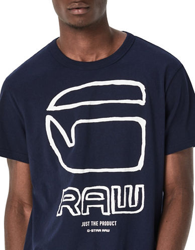 G-Star Raw Ocar Short Sleeve T-Shirt-BLUE-Medium 88694095_BLUE_Medium