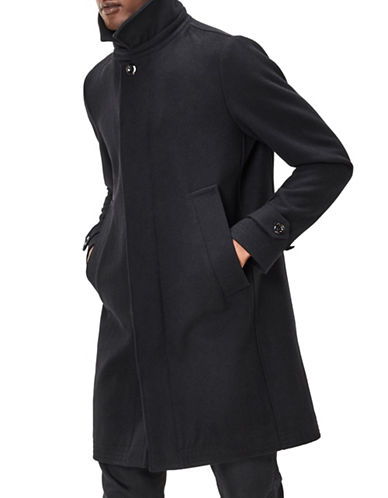 G-Star Raw James Wool Trench Coat-BLACK-XX-Large 88825619_BLACK_XX-Large