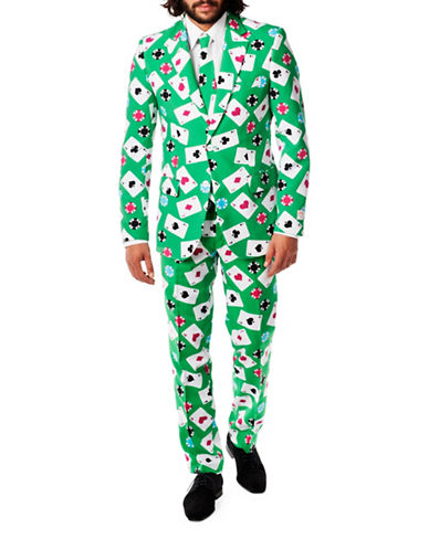 Opposuits Poker Face Three-Piece Suit Set-GREEN-42