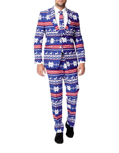 Opposuits The Rudolph Three-Piece Jacket, Trousers and Tie Set-BLUE-46 Regular