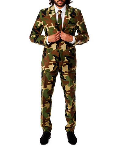 Opposuits Commando Three-Piece Slim-Fit Suit Set-GREEN-52