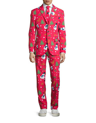 Opposuits Christmaster Three-Piece Jacket, Trousers and Tie Set-RED-40 Regular