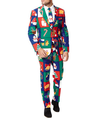 Opposuits Quilty Pleasure Three-Piece Jacket, Trousers and Tie Set-MULTI-48 Regular