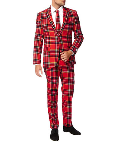 Opposuits The Lumberjack Three-Piece Jacket, Trousers and Tie Set-RED-52