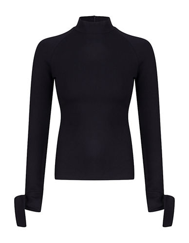 St. Studio Turtleneck Top-BLACK-Small