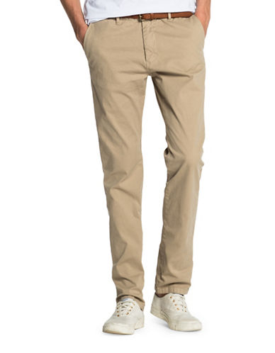 Scotch And Soda Stuart Slim-Fit Chino Pants-BEIGE-34X32