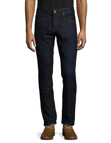 Scotch And Soda Straight-Leg Cotton Jeans-BLUE-33