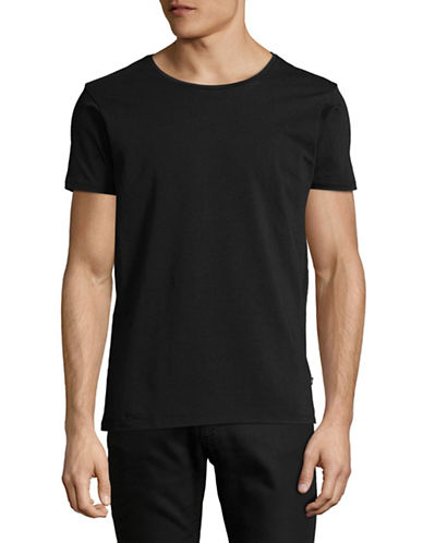 Scotch And Soda Classic Crew Neck T-Shirt-BLACK-Small