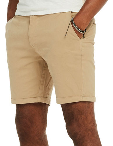 Scotch And Soda Classic Garment Dyed Chino Shorts-BEIGE-36