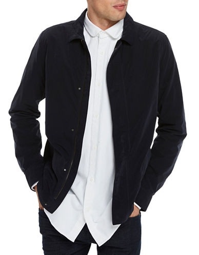 Scotch And Soda Lightweight Mesh Jacket-BLUE-Small