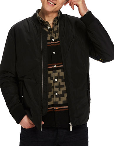 Scotch And Soda Regular-Fit Sporty Bomber Jacket-BLACK-Small