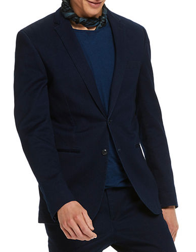 Scotch And Soda Regular-Fit Chic Tailored Hotel Blazer-BLUE-Large