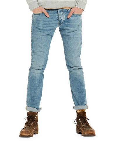 Scotch And Soda Ralston Slim Straight Jeans-BLUE-34X34