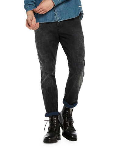 Scotch And Soda Ralston Starry Night Slim Straight Jeans-BLACK-33X34