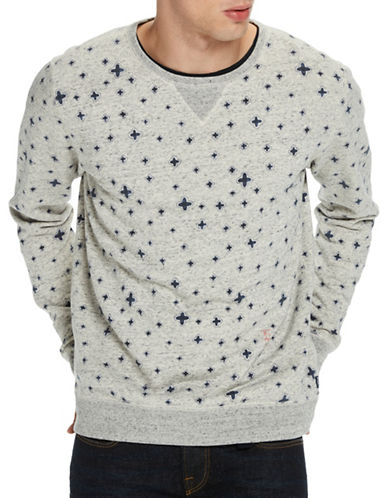 Scotch And Soda All-Over Print Cotton Sweatshirt-BLUE-X-Large