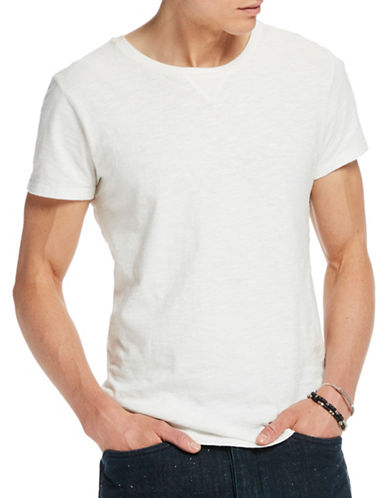 Scotch And Soda Home Alone Classic Regular-Fit Cotton Tee-WHITE-X-Large