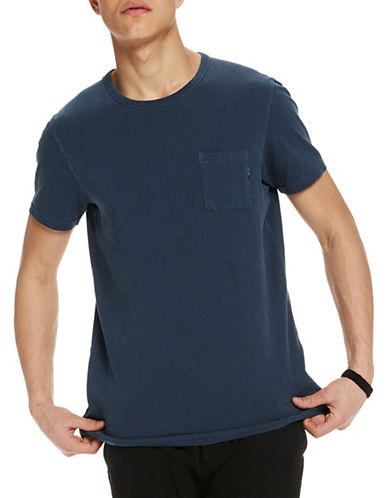 Scotch And Soda Cotton T-Shirt-BLACK-Small