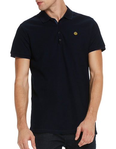 Scotch And Soda Regular-Fit Polo-BLUE-Small