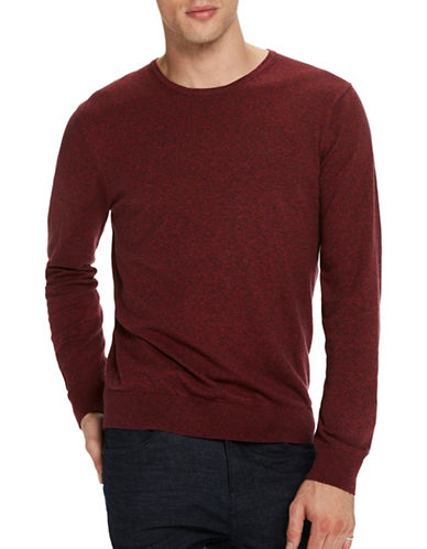 Scotch And Soda Classic Melange Knit Sweater-RED-Medium
